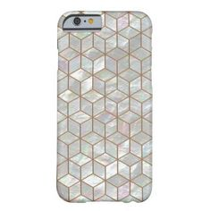 """The image of a beautiful mother of pearl mosaic in a geometric cube pattern.<br> See this design on <a href=""""http://www.zazzle.com/sharandra/gifts?cg=196509113005761681"""">other products</a>"""
