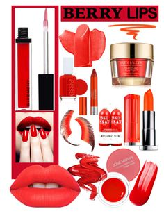 """""""Strawberry"""" by graszie12 ❤ liked on Polyvore featuring beauty, Lancôme, Givenchy, Nails Inc., Essie, TIGI, Beauty Is Life, Stila, Lime Crime and Josie Maran"""