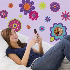 how to paint a girls room with flower patters | ... painting designs flower wall art flower stencils wall painting ideas