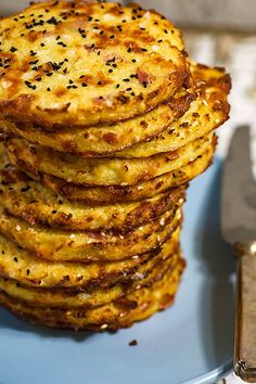 Stack of cauliflower, cheese and bacon buns