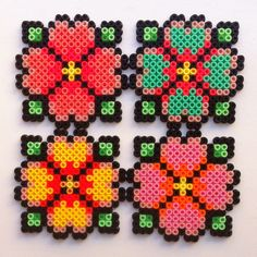 floral coaster hama beads