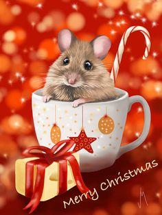 Christmas Cup ~ Veronica Minozzi ~ Ipad Painting