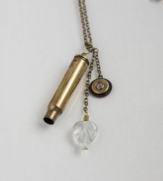 Items similar to brass bullet necklace on Etsy Bullet Necklace, Bullet Jewelry, Bullet Shell, Bullet Casing, Jewelry Ideas, Unique Jewelry, Bullets, Shells, Workshop