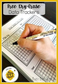 FREE dry-erase data tracking sheets! Great for group therapy and keeping that paperwork organized.