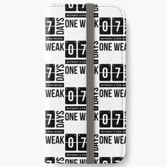 Days Without a Pun Makes one Weak' iPhone Wallet by RIVEofficial