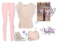 """""""Violetta 3: Supercreativa"""" by stylewiktoria ❤ liked on Polyvore featuring Ultimo, Maison Kitsuné, Converse, Forever New, ANNA and Rebecca Minkoff"""