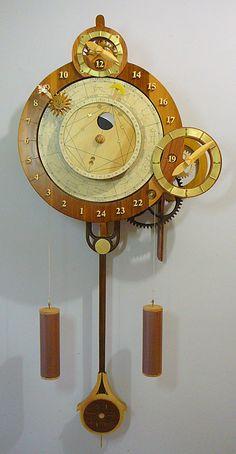 Medieval Astrological Calendar Clock by Clayton Boyer