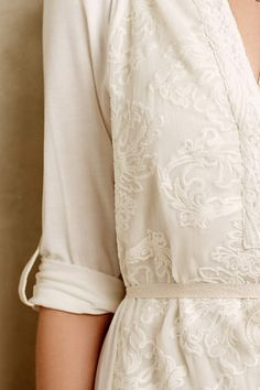 Paperwhites Embroidered Shirtdress - anthropologie.com #anthrofave #anthropologie