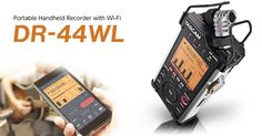 """Win a DR-44WL Portable Handheld Recorder by TASCAM"" - TASCAM's DR-44WL revolutionizes portable recording with improved audio specs, updated microphones, and WiFi transport control and file transfer to our flagship portable audio recorder. The new stereo condenser microphones improve shock mounting and are mounted in a true XY pattern for perfect stereo imaging. Deadline is January 12th."