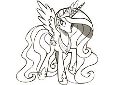 2013 Princess Celestia Coloring Pages | Colouring Pages ...