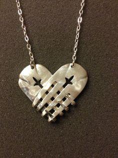 Heart Fork Necklace. $45.00, via Etsy.