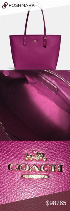 TODAY! 🍂Fall Fuchsia Coach City Tote 🍂 🍂🛍🍂🛍🍂🛍🍂🛍🍂🛍🍂🛍🍂🛍🍂Retail $295 Coach Bags Totes