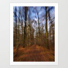 ZOOOOOOM Art Print by Rainer Steinke - $22.88 Autumn leave forest zoom
