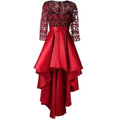 Christian Pellizzari high low skirt dress ($695) ❤ liked on Polyvore featuring dresses, vestidos, red, robe, dip hem dresses, high low cocktail dresses, short and long dresses, red hi low dress and hi lo dress