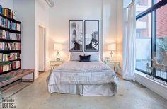 Robert Watson Lofts-363-369 Sorauren Ave #217 | Old meets new in this fab North East 2 bedroom + 2 bath corner loft with walk-out to 135 sf private terrace! | More info here: torontolofts.ca/robert-watson-lofts-lofts-for-sale/363-369-sorauren-ave-217 Concrete Ceiling, Concrete Wood, Exposed Brick Walls, Lofts, Terrace, Corner, Bath, Bedroom, House