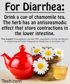 Stomach flu or IBS Chamomile tea for diarrhea Tea For Diarrhea, How To Cure Diarrhea, Natural Remedies For Diarrhea, Diarrhea Remedies, Flu Remedies, Natural Cures, Natural Healing, Herbal Remedies, Health Remedies