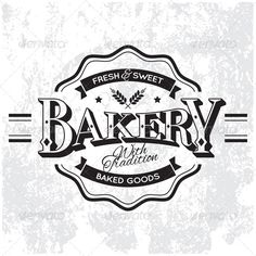 Vintage Vector Bakery Monoprint Label on Grunge BackgroundFiles in Pack: Vector Eps 8 ¨C Fully scalable. Font is not editable. You
