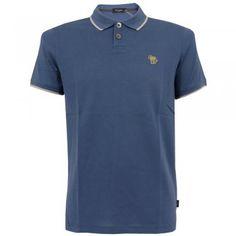 Paul Smith Jeans Paul Smith Blue Zebra Appliqué Polo Shirt