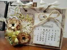 Calendario da tavolo https://m.facebook.com/Erika-Diy-Cards-611082892367606/