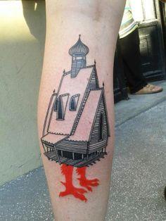 Baba Yaga's hut tattoo!  Melle Armelle Stb