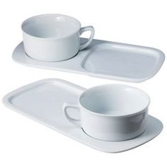 CHEFS Soup u0026 Sandwich Set Because juggling a soup bowl and plate of grilled cheese on the couch is not fun.  sc 1 st  Pinterest & Limoges Luncheon Soup Sandwich Snack Plate Mug 2 Piece Le Trefle Set ...