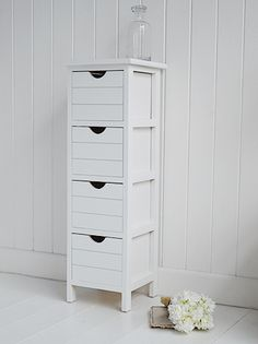 White Narrow Cabinet 8 Drawer Slim Storage Unit Hold CDs Jewelry Makeup |  Pinterest | Garden Furniture, Cupboard And Drawers
