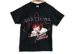 Vintage 90s Alice Cooper Tour Shirt - Small - Canadian Tour - Classic Rock - Shock Rock - Band Tee Small - Band Shirt - Music Shirt - Tour by BLACKMAGIKA on Etsy