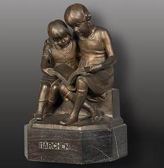 The origin of Austrian sculptor Victor Seifert was German designer ornate sculptures, often elegant female figures in Art Nouveau or Art Deco style.