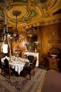 ♜ Shabby Castle Chic ♜ rich and gorgeous home decor - Victoria Mansion, Portland, Dining Room