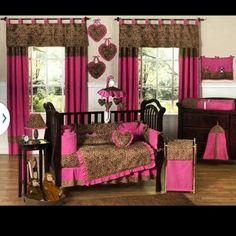 #babygirl #leapord #bedding