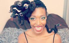 hair-o-ween: medusa-locs (video) Large Box Braids, Medium Box Braids, Jumbo Box Braids, Small Braids, Micro Braids, Flat Twist Hairstyles, Braided Hairstyles, Box Braids Sizes, Medusa Hair
