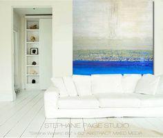 Ocean horizon painting.