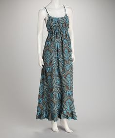 Take a look at this Turquoise Paisley Dress by Pink Cattlelac on #zulily today!