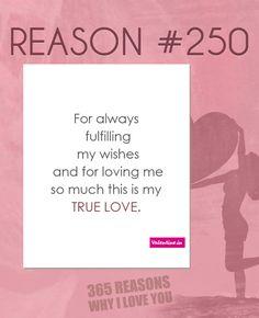 Reasons why I love you #250