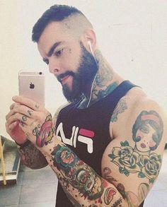 Malelounge — @miguelpokomaier  #beard #scruff #abs #malebeauty...