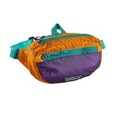 Patagonia Purple and Orange Lightweight Travel Mini Hip Pack Pouch Bag, Backpack Bags, Tote Bags, Mochila Hippie, Patagonia Bags, Patagonia Travel, Outdoor Outfit, Travel Bags, Fanny Pack