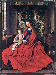 Jan Van Eyck ~ Madonna with the Child Reading (1433)
