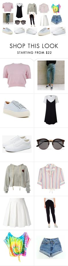 """Hayley's wardrobe set"" by jenny-on-fleek on Polyvore featuring mode, Miu Miu, Marc Fisher LTD, Vans, Illesteva, Sans Souci, Solid & Striped, Boutique Moschino et Juicy Couture"