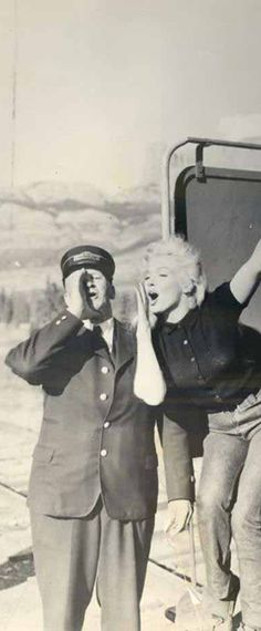 Marilyn during the filming of River of No Return, 1953.