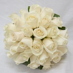 The Watering Can - Bridal Bouquets   White Roses - a timeless classic (wedding)