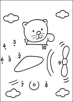 Preschool Activities and Materials Printable Preschool Worksheets, Kindergarten Math Worksheets, Preschool Learning Activities, Free Preschool, Teaching Kids, Kids Learning, Learning Numbers, Math For Kids, Le Point
