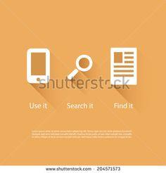 Icons Set - Flat UI Design