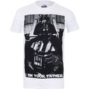 Geek Clothing Star Wars Mens Vader Father Photo T-Shirt - Crafted from soft cotton, this regular fit T-Shirt is officially licensed and finished with a stylised print on the front, a crew neck and short sleeves (Barcode EAN=5052777294811) http://www.MightGet.com/january-2017-11/geek-clothing-star-wars-mens-vader-father-photo-t-shirt-.asp