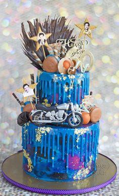 Galaxy Drip Cake ..  by Hima bindu