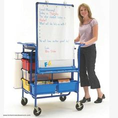 Perfect for educators in K through grade 8 classrooms, the Teach n Go Cart has extra large, 5-inch casters, so it glides smoothly across the floor. It also comes with plenty of versatile storage space, including (10) tubs, a shelf and poster file. #TAG2