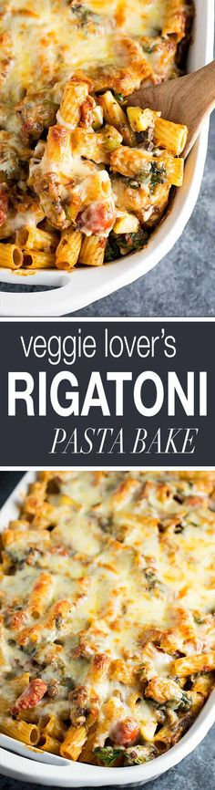 Veggie Lover's Baked Rigatoni - w/ mushrooms and zucchini