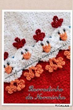 Croche - Barrado em acabamento ... | OFICINA DO BARRADO | Bloglovin'