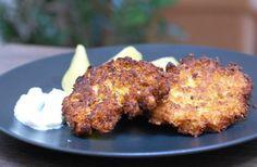 Fotorecept: Karfiolové placky so slaninkou