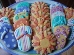 cute summer decorated cookies