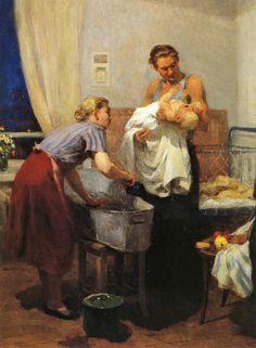 Агабабаева-Шебашева-Валентина Алексеевна «Дома»-1955